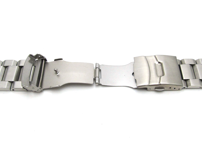 Mens Watch Strap Bracelet STAINLESS STEEL Band Deployment Clasp HEAVY SOLID LINK